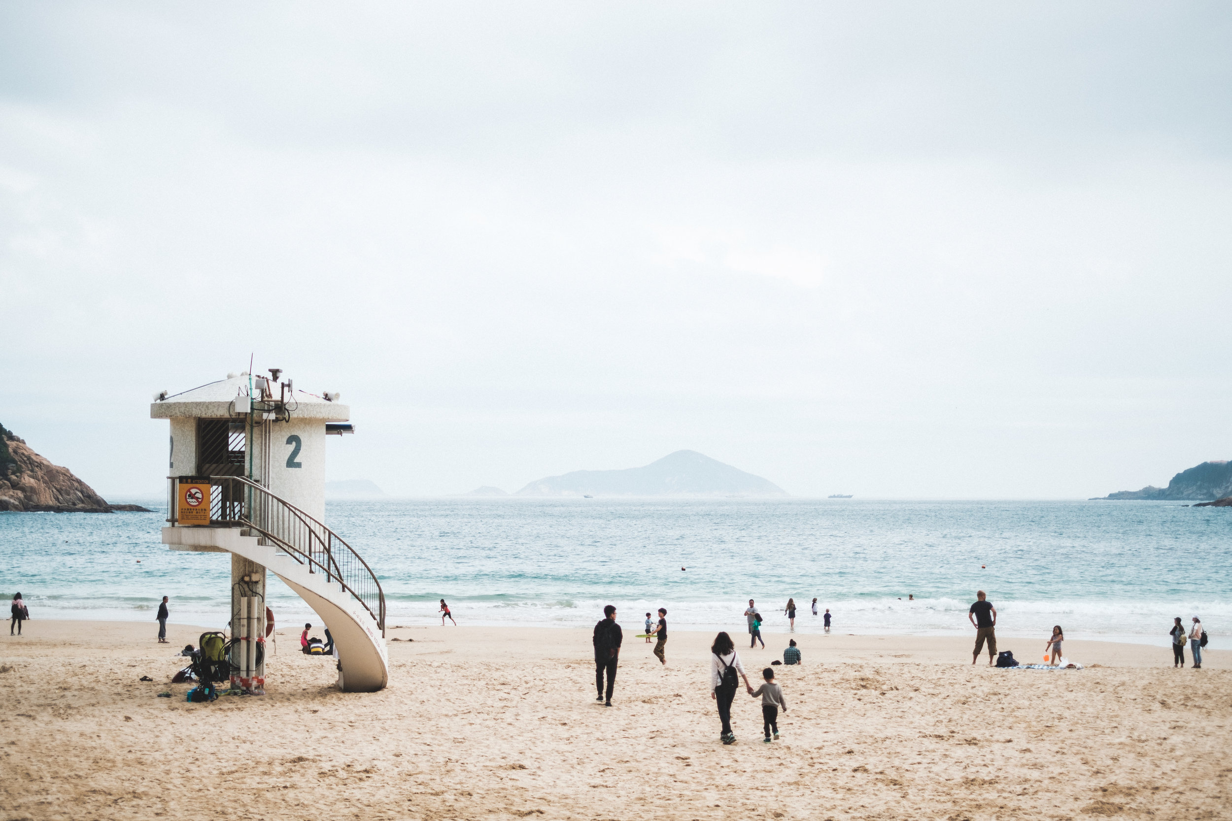 Big Wave Beach in Shek O, Hong Kong