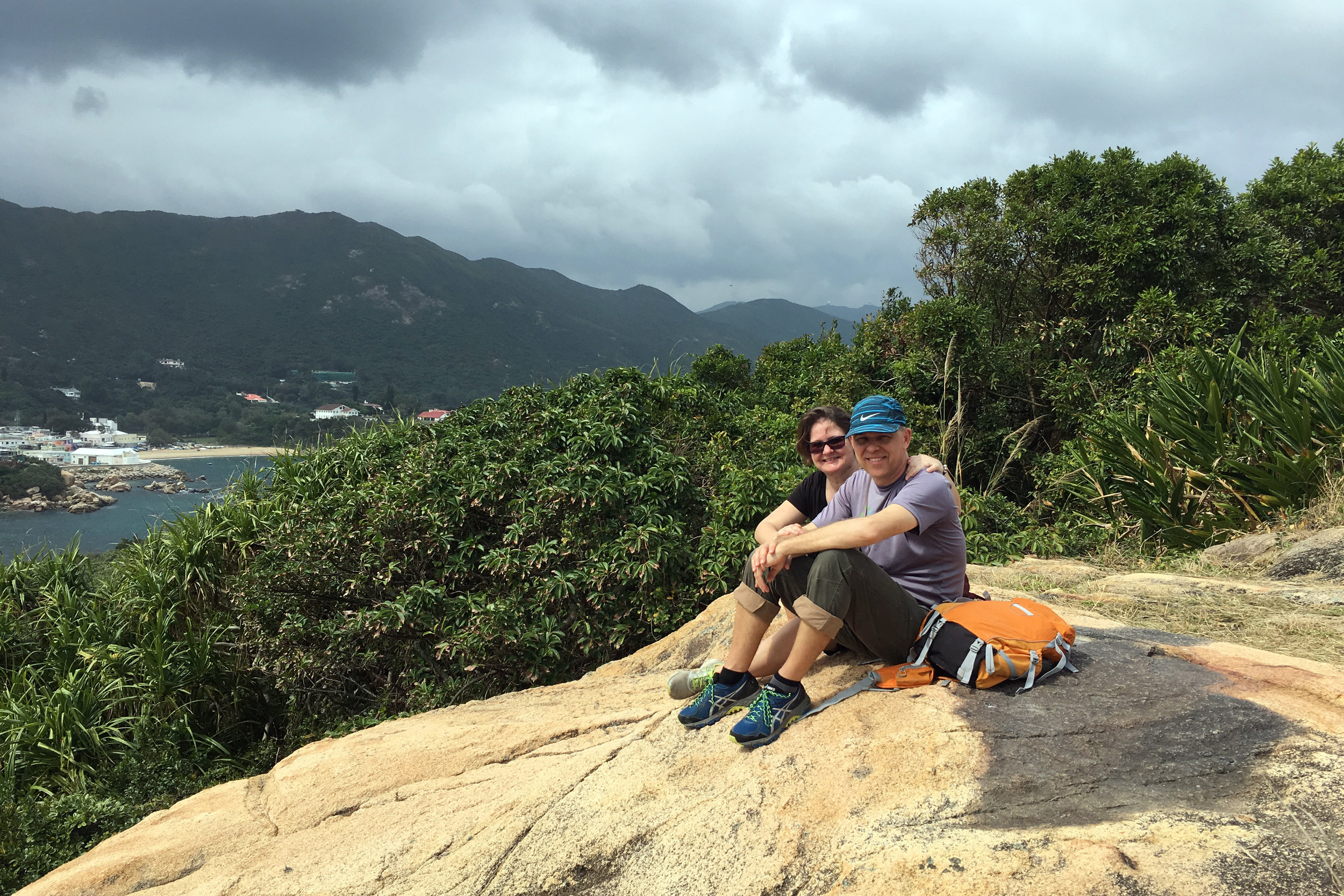 Here we are, at Prospect Point in Shek O, Hong Kong. Wondering what we are looking at? Check out the feature photo above :)
