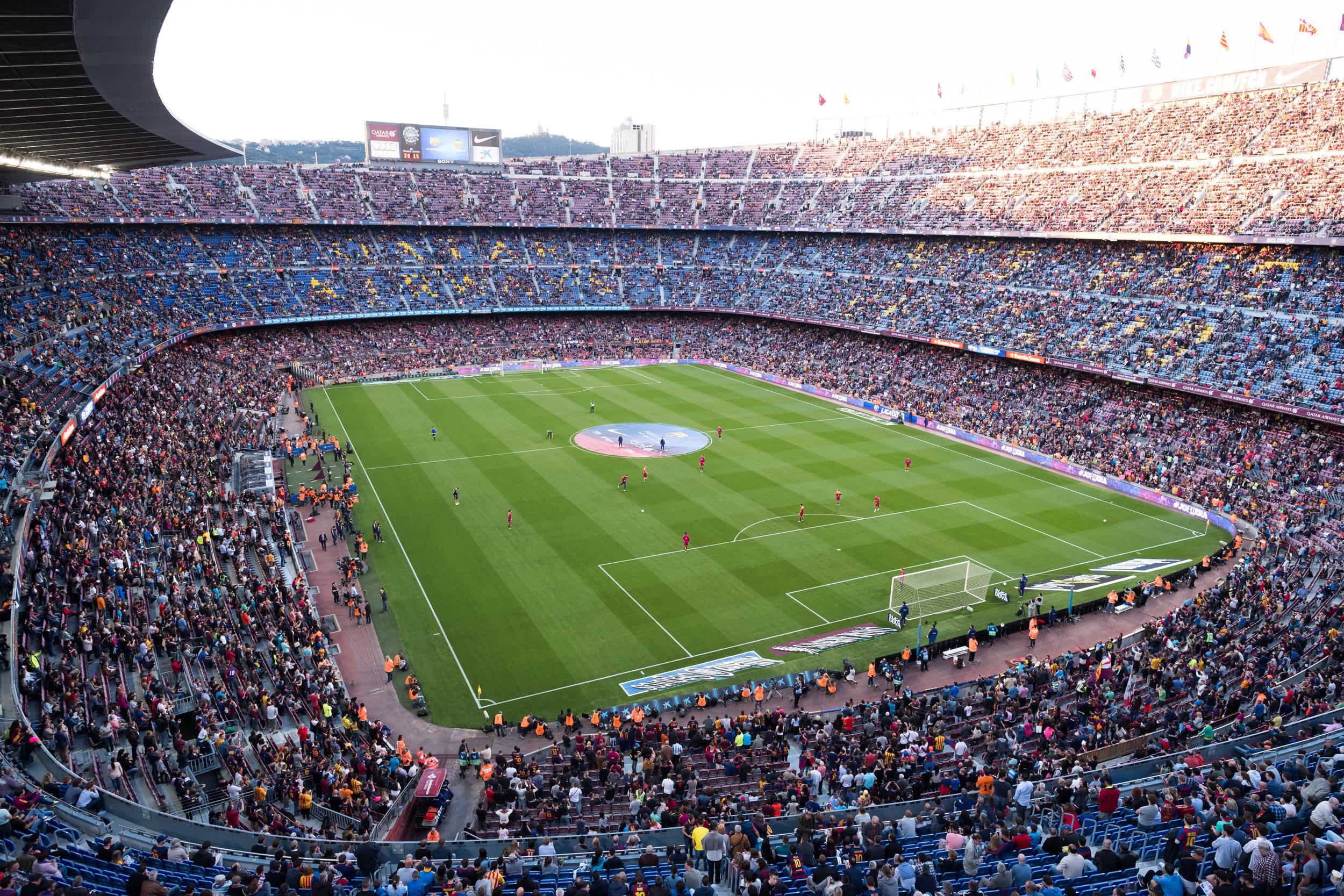 Camp Nou, Barcelona,  Spain , Fujifilm X-Pro2, XF 14mm f/2.8 R @ f/5, stitched in LR