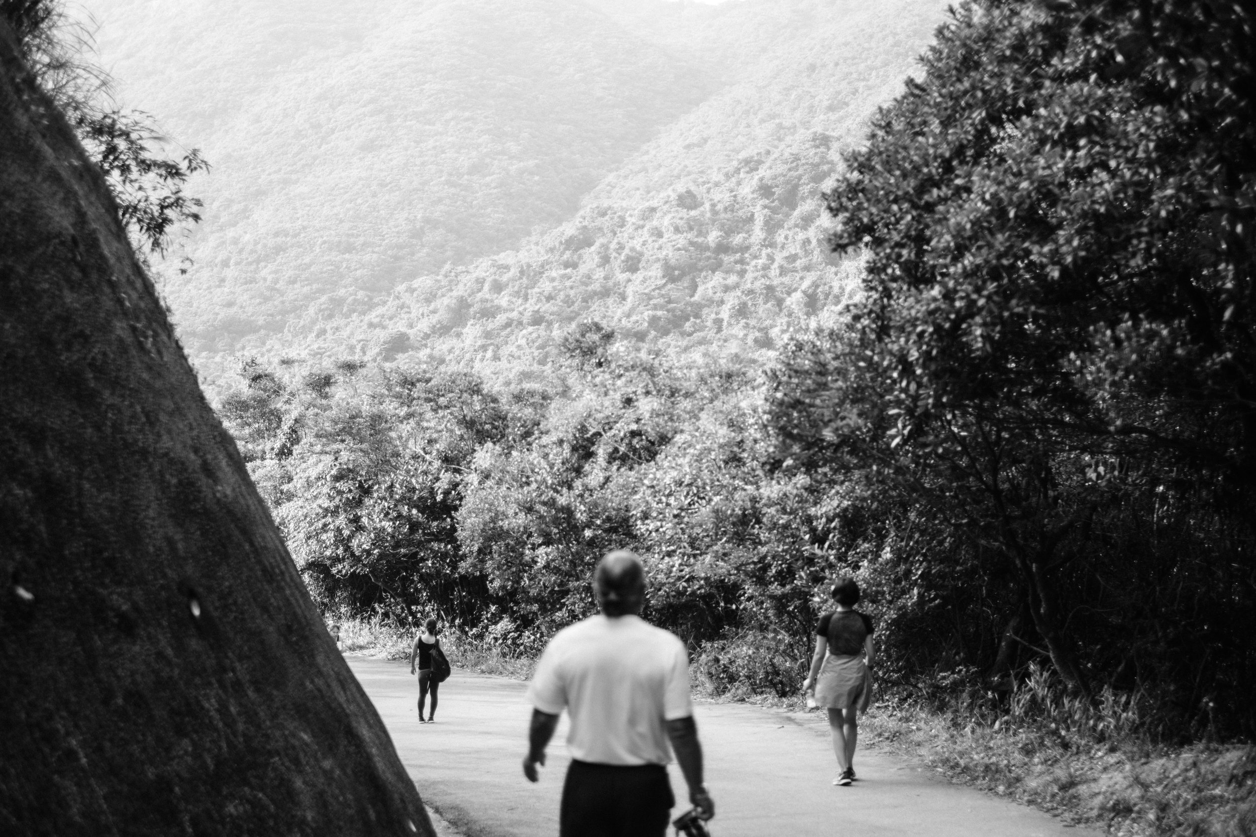 Hiking the trails at Victoria Peak in Hong Kong