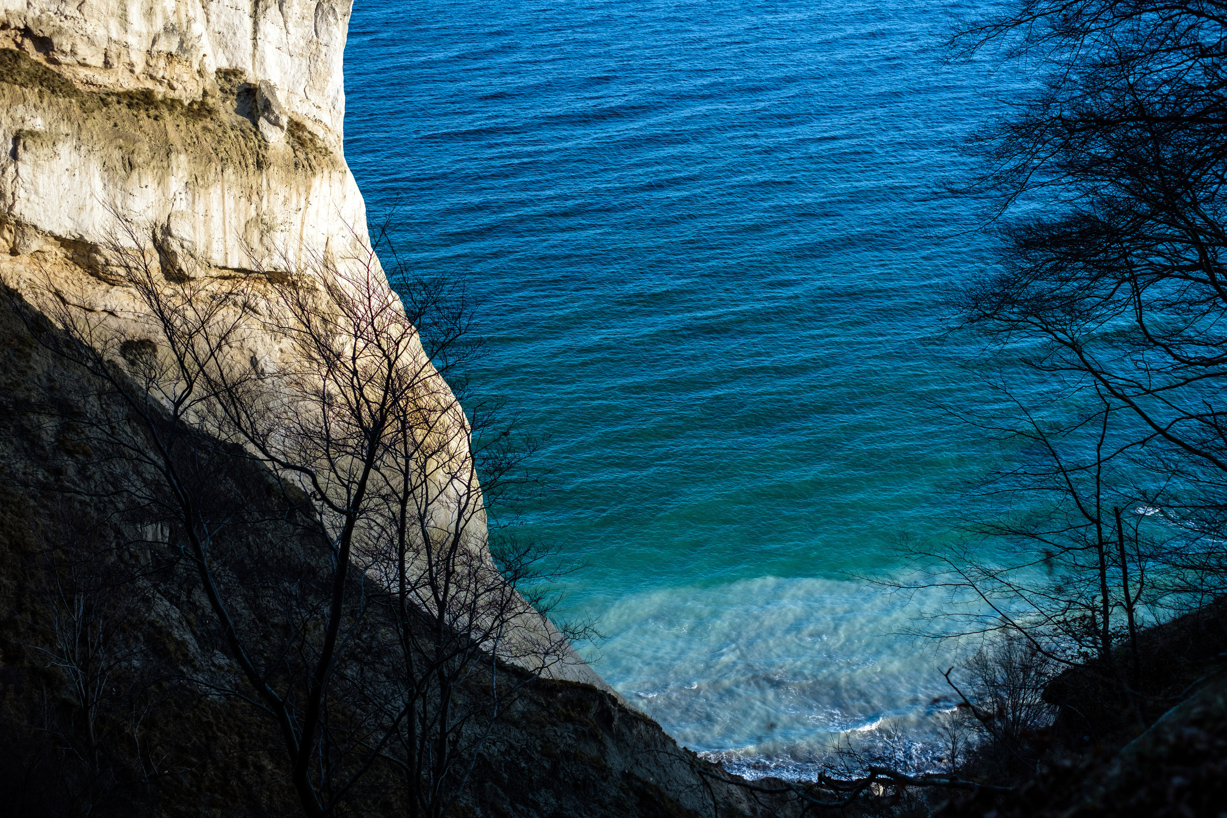 Møns Klint, Cliffs of Moen, and the Baltic Sea in Denmark