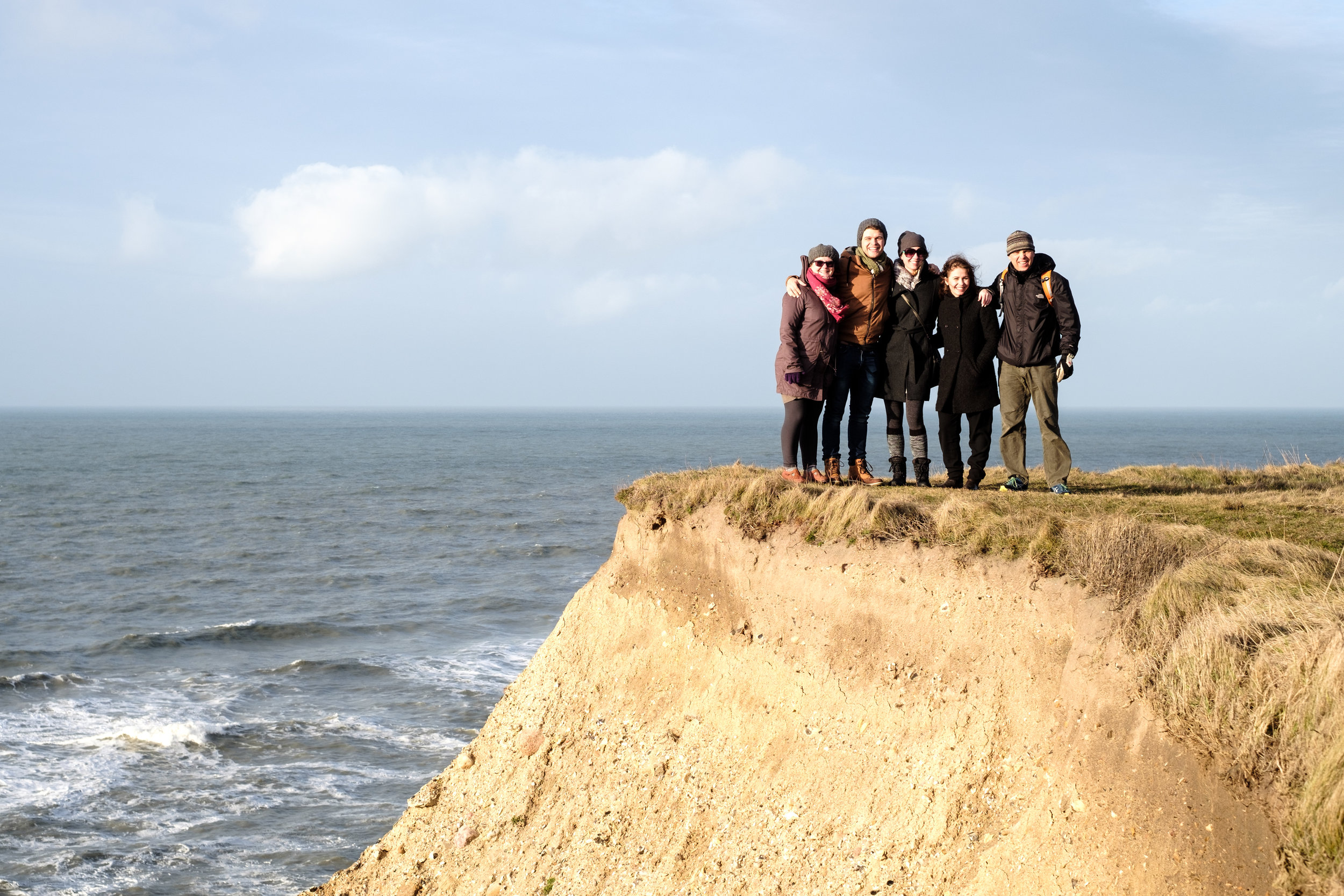 Set the self-timer. Hurry hurry back to the group. Mind the edge. Best company in the world!