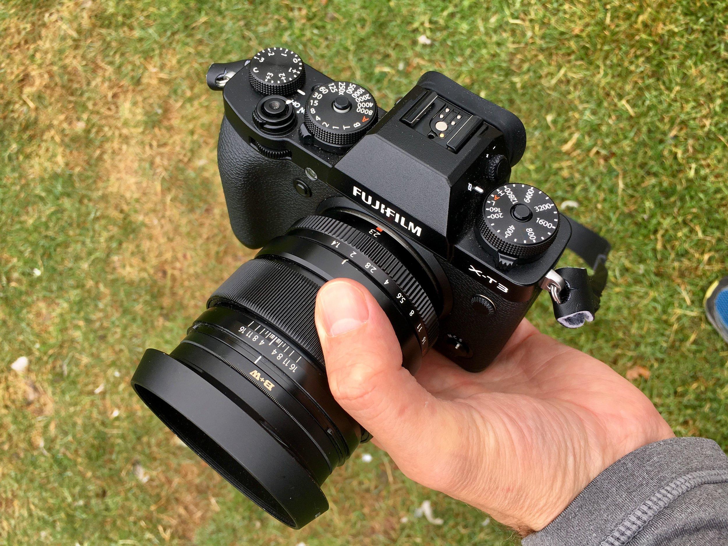 Fujifilm X-T3 with an XF 23mm f/1.4 R