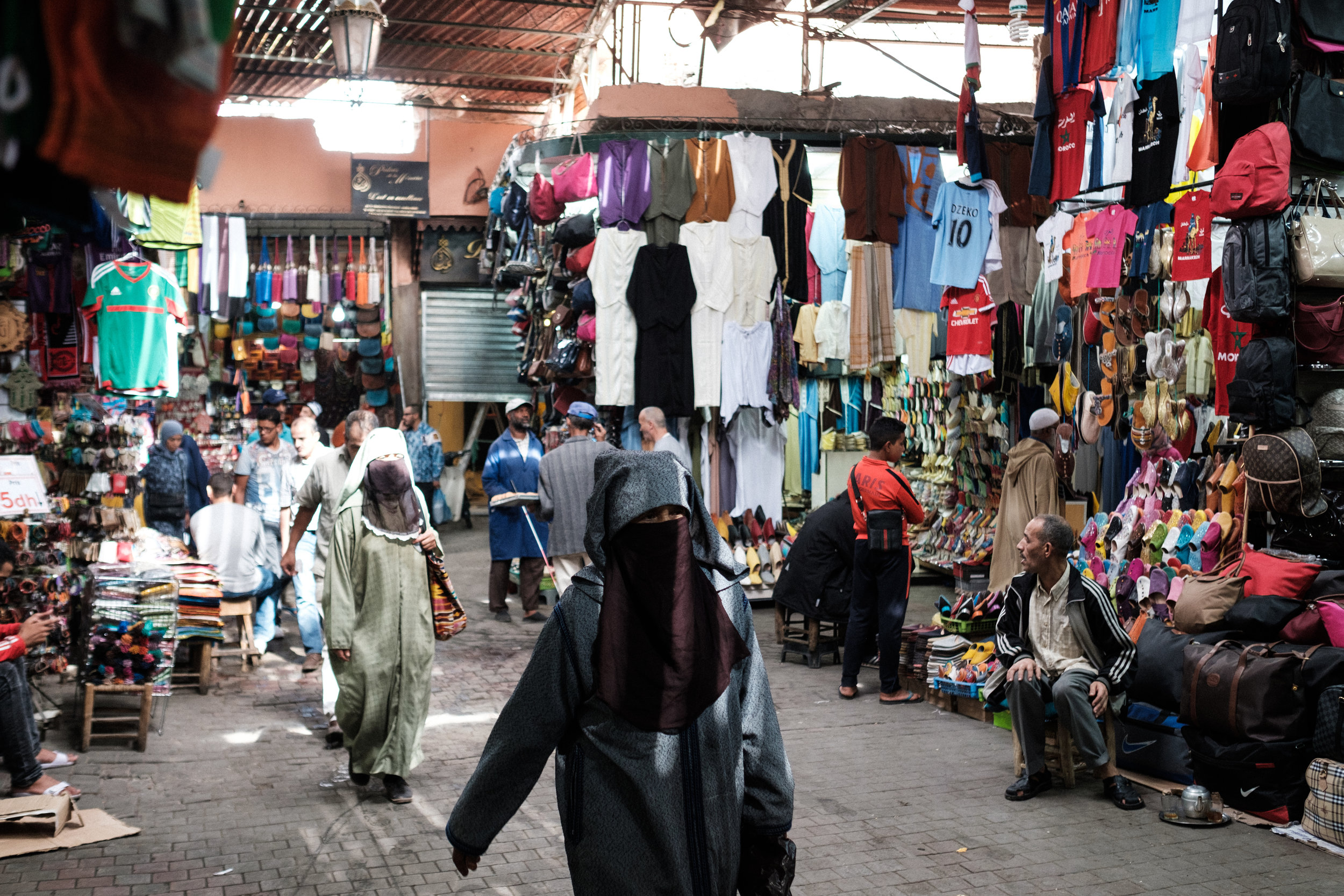 Countless shops in a Medina District Souk near the Jemaaa el-Fna Square