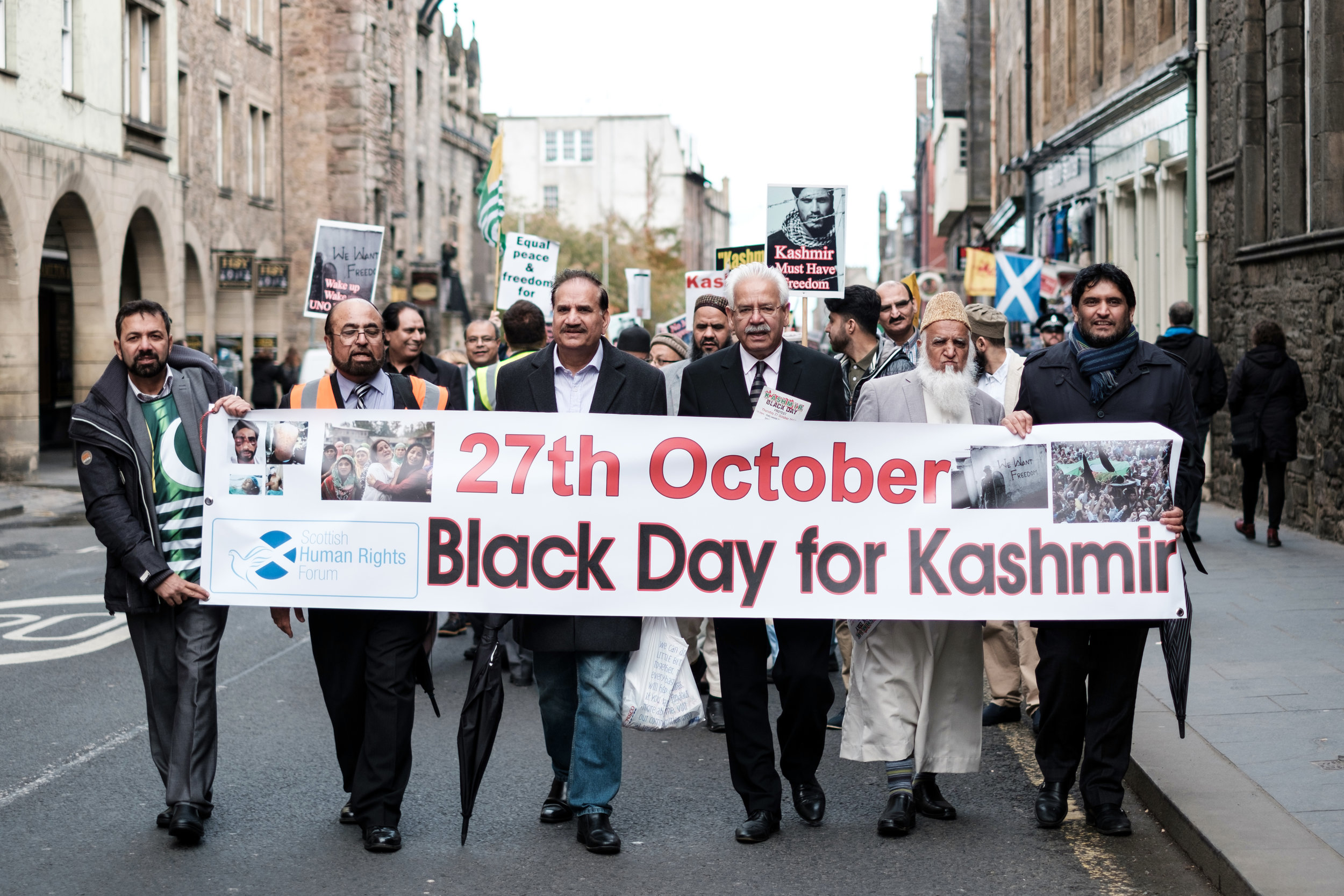 27th of October Black day for Kashmir peace march in Edinburgh Scotland