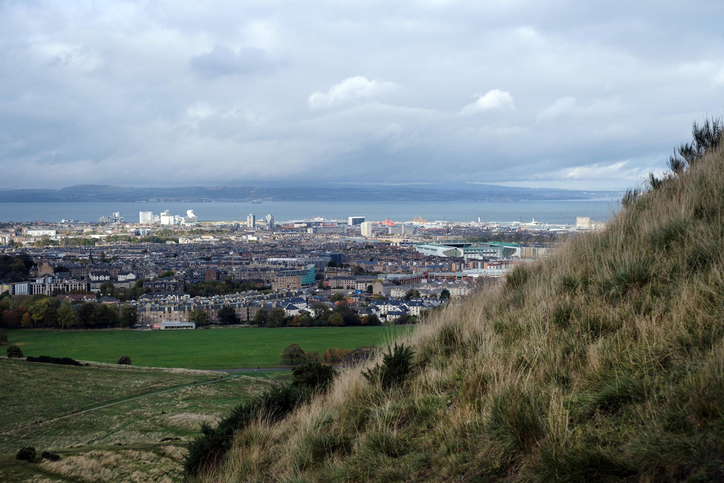 A view of Edinburgh from Athur's Seat