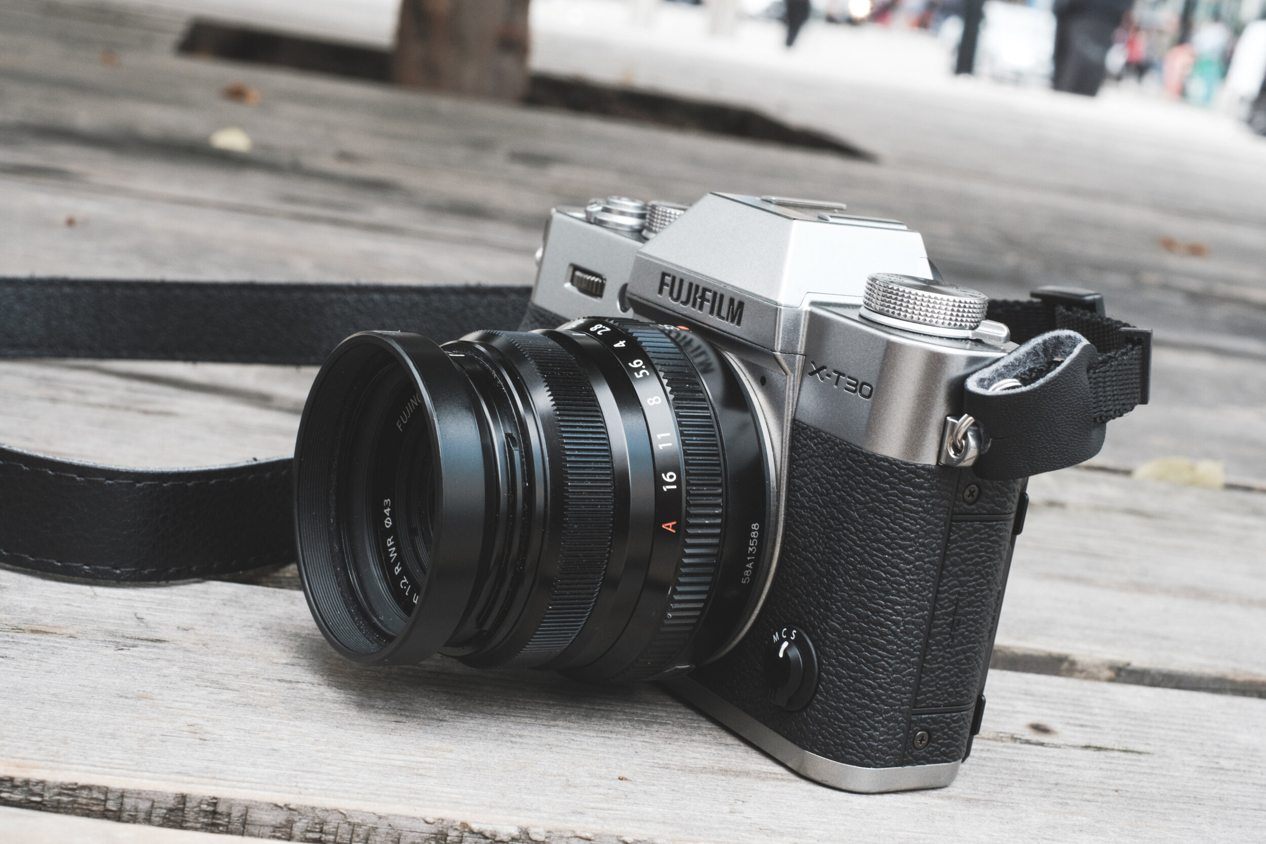 The Fujifilm X-T30 with an XF 35mm f/2 R WR