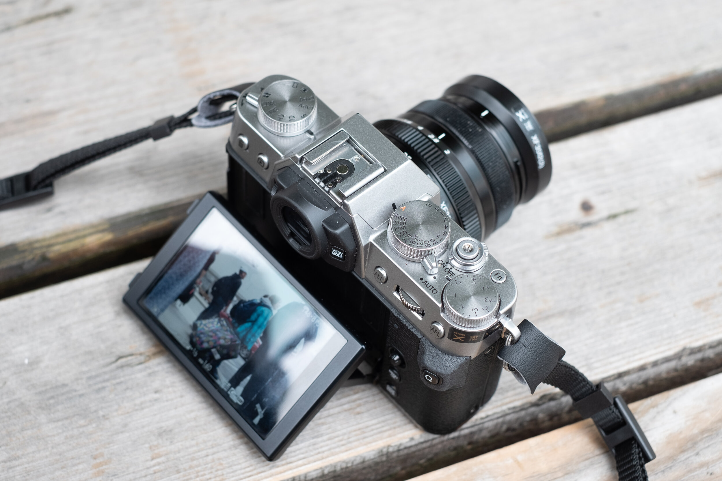Fujifilm X-T30 with XF 35mm f/2 R showing the articulating screen