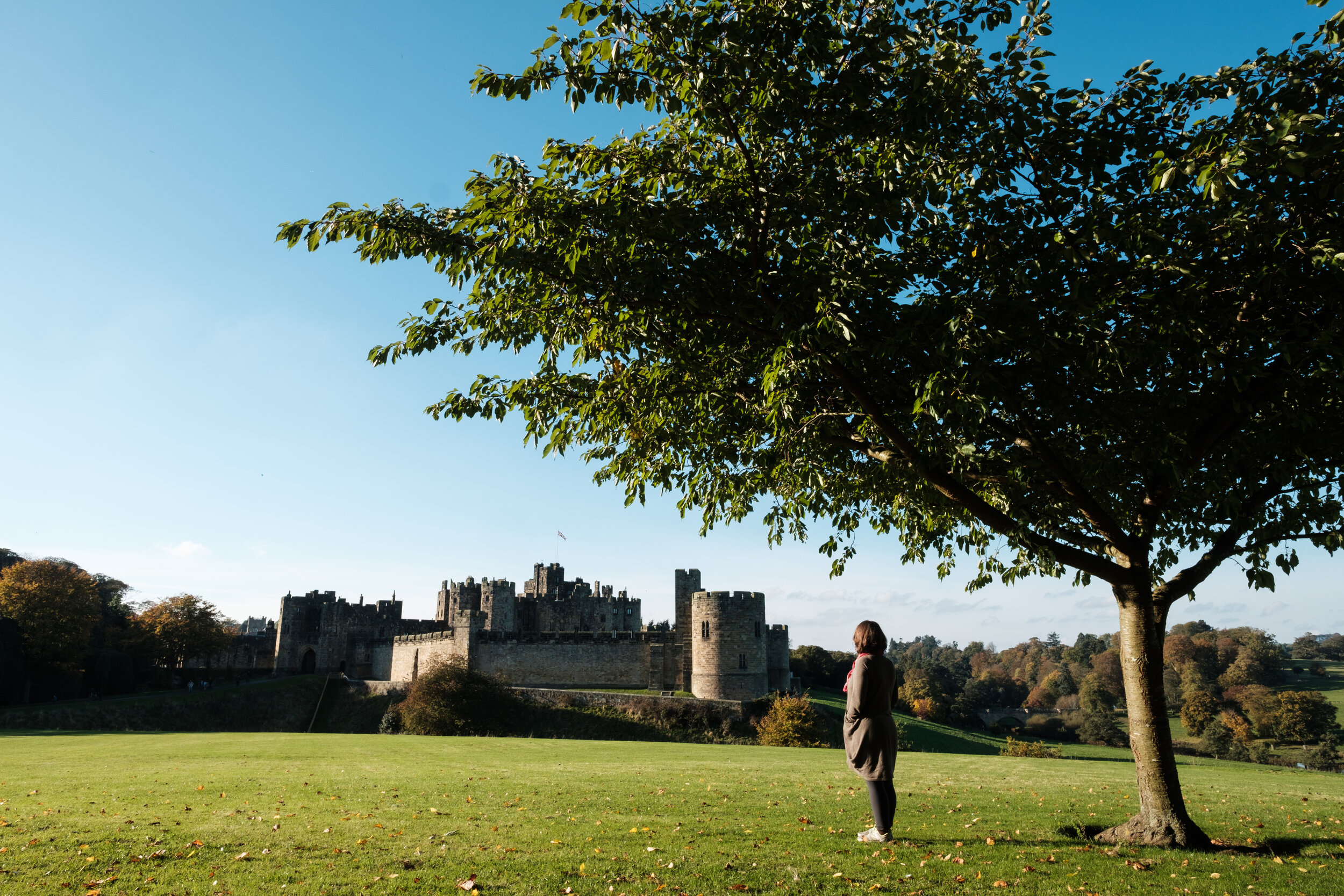 Our route took us right by Alnwick Castle in Northumberland. We walked around the caste and took in the atmosphere but decided nor to pay for admission. The school holiday meant hundreds of children were visiting, many of them with face paint and in Harry Potter inspired robes and gadgetry.