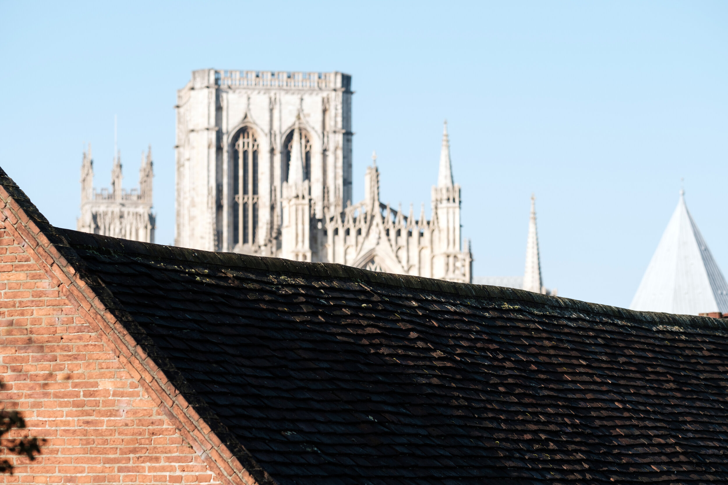 York Minster spotted over the roof tops in York Minster