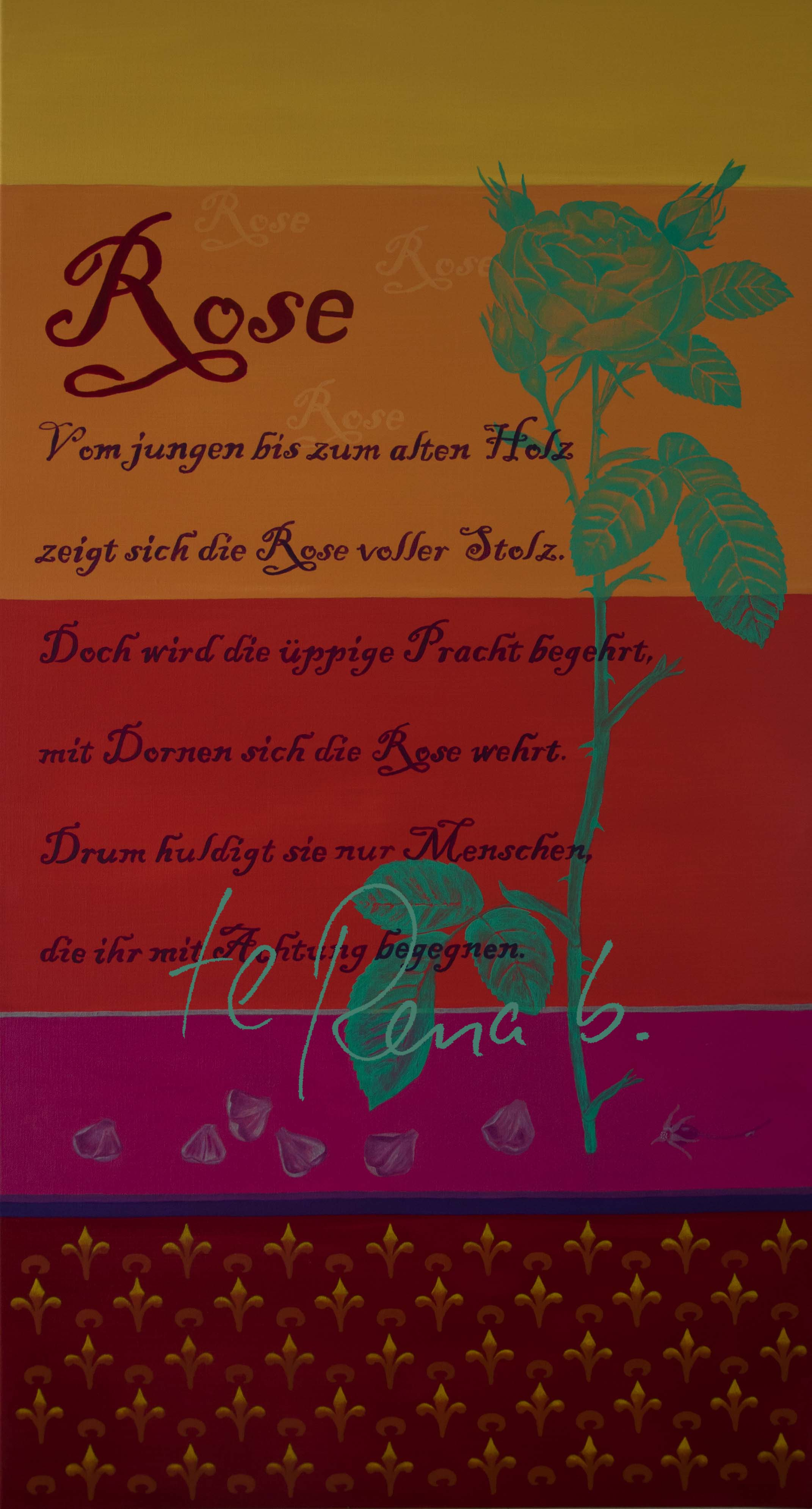 Poesie der Rose I