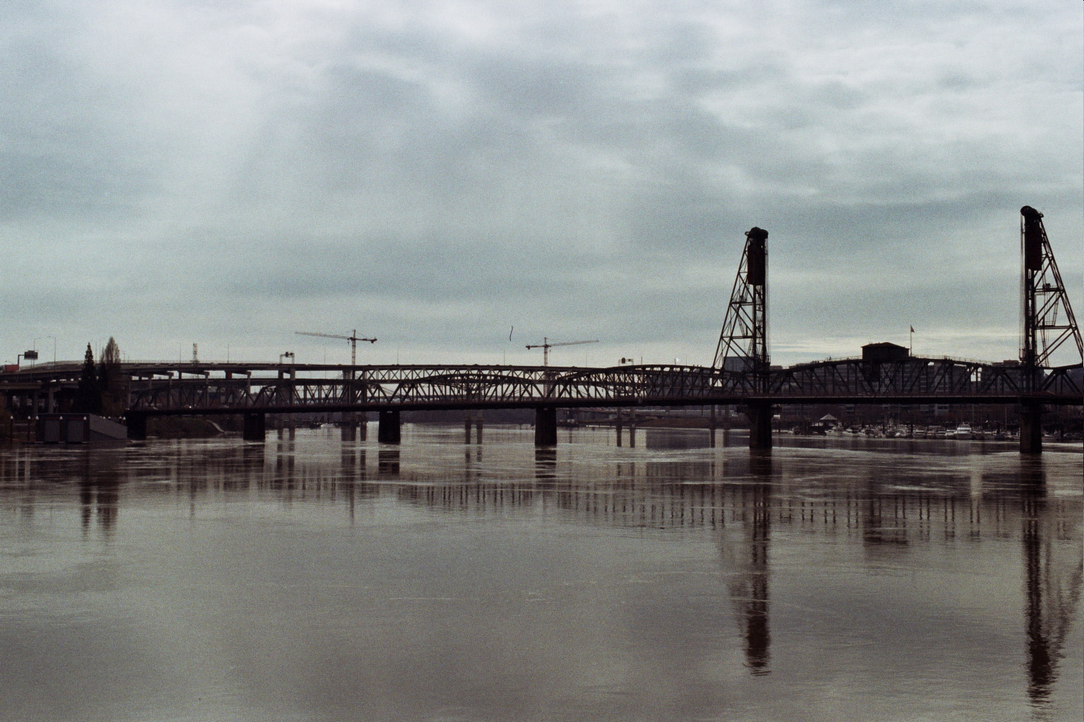 view of one of the many bridges over the Wilamette River