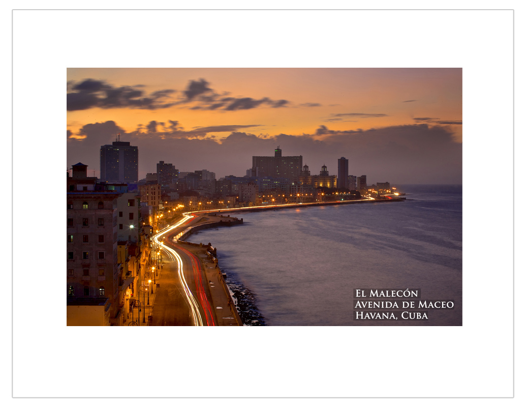 """Sunset at Malecon, Cuba"""