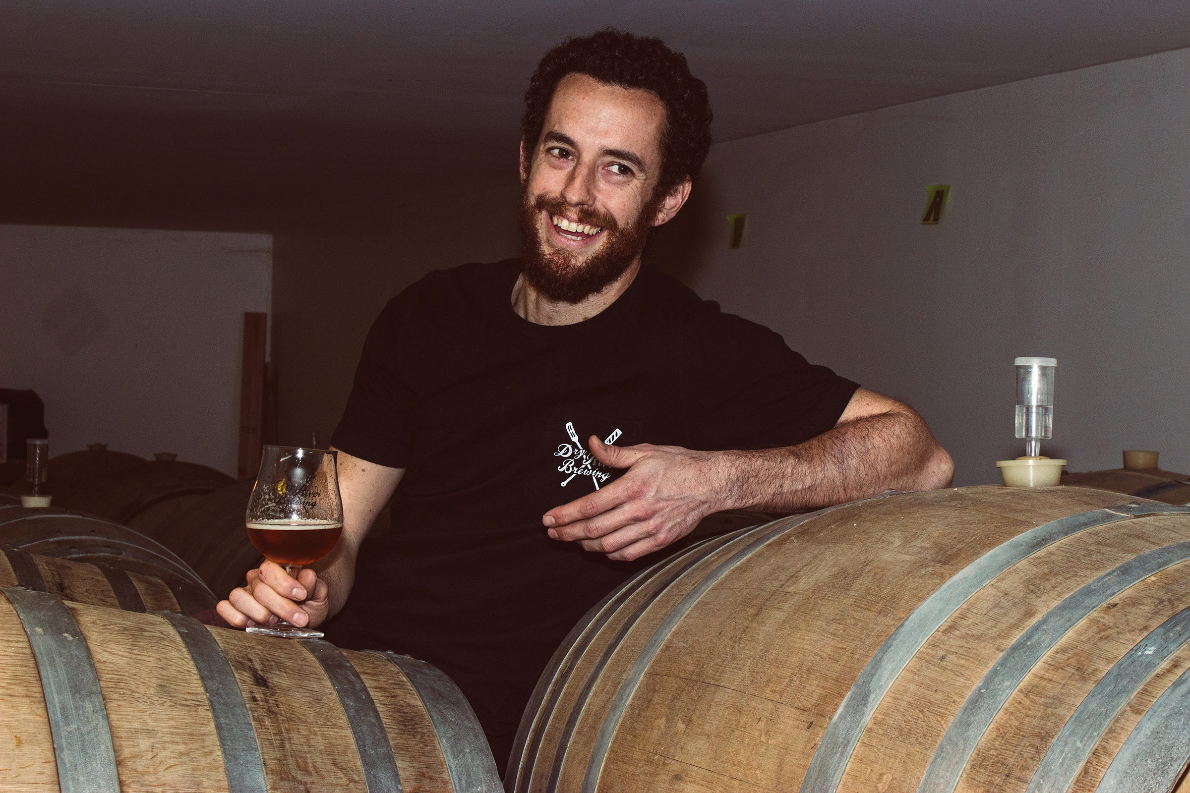 Garrett - Favorite Beer style:F1 Dry HopHobby:Climbing RocksFavorite thing about DRB?The mystery.