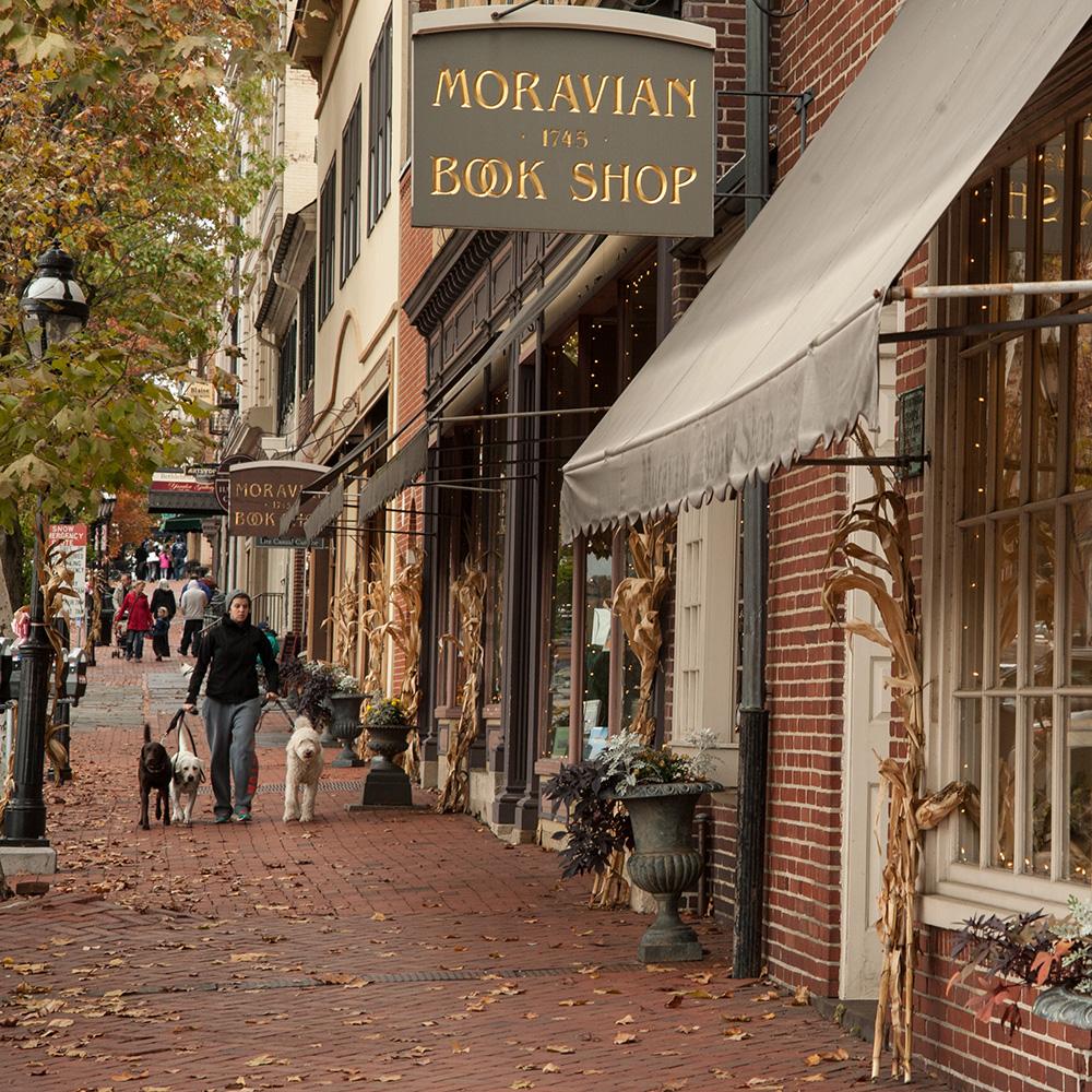 Bethlehem, PA historic district street scene