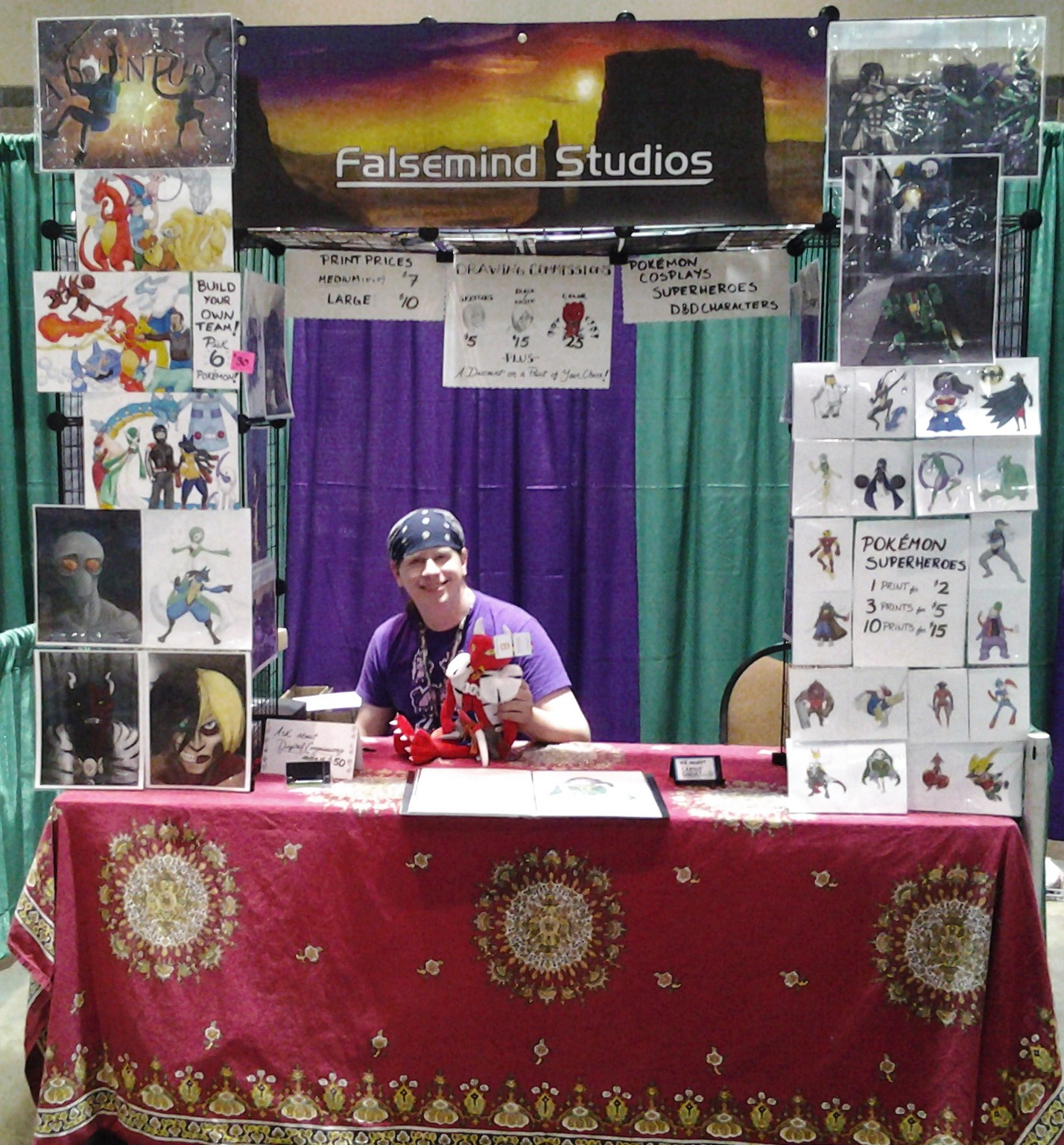 Falsemind Studios Booth at ConnectiCon 2015!