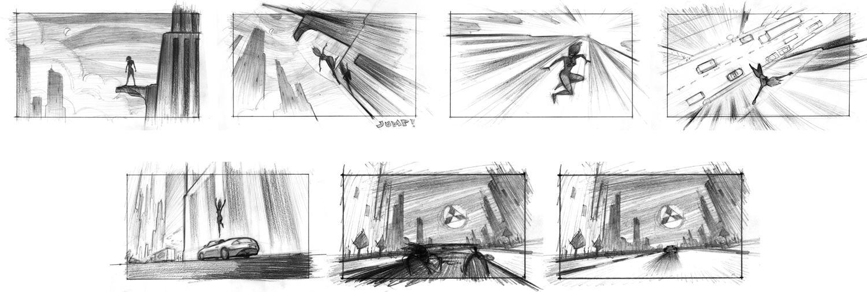 The Art of Jeremy Rumas_Jeremy Rumas Storyboards_NYC_Mitsubishi_Superhero_pencil_television commercial storyboards_www_jeremyrumas_com.jpg