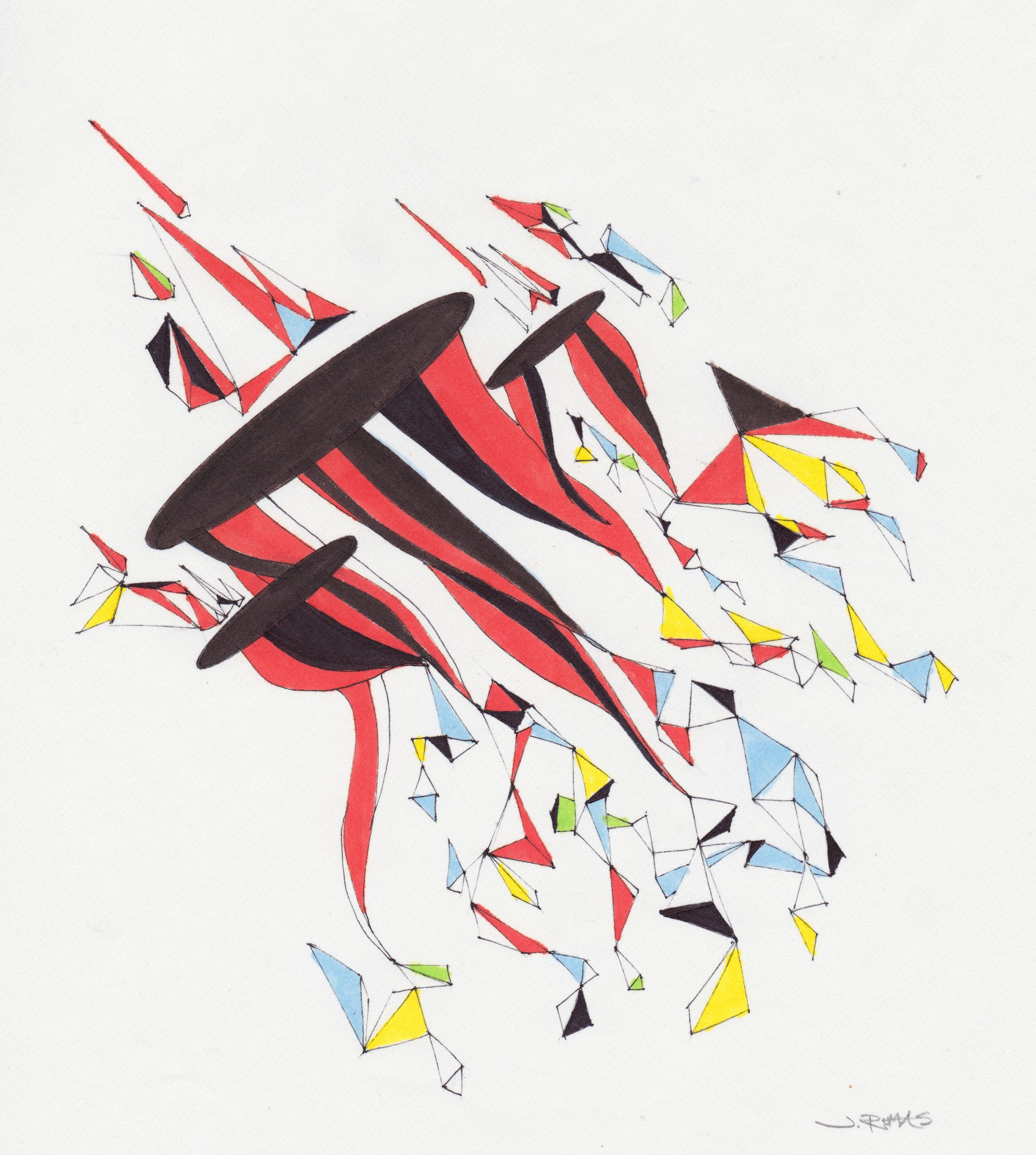 JEREMY RUMAS ART + PEN and MARKER SKETCHES 03 + abstract futurism + modern art +www.jeremyrumas.com.jpeg