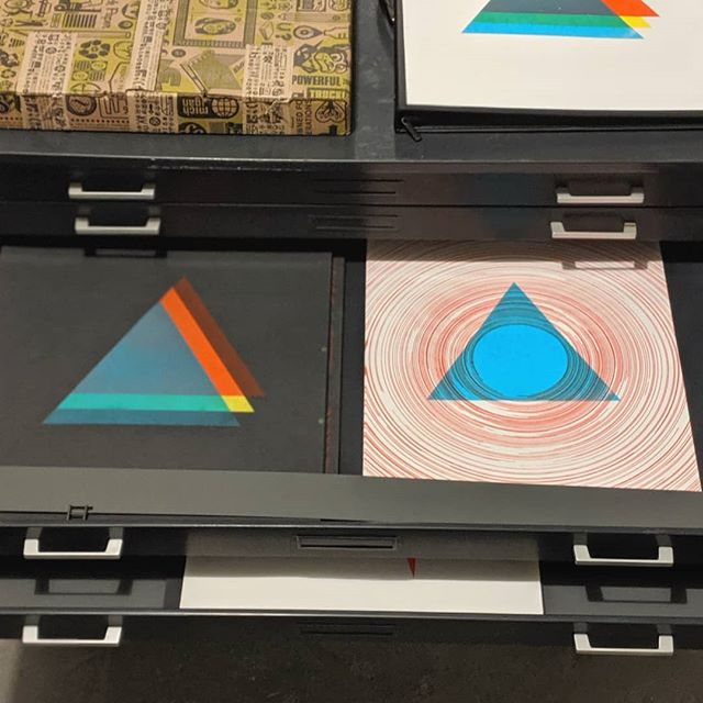The flat files.  Thanks a ton @thearchivect for these.  _ __ ____ ______ _________ #art #design #cabinet #screenprinting #screenprint #screenprints #artprints #postermaking #flatstock #paper #frenchpaper #ct #smallbusiness #independent #indie #graphicdesign #illustration #artstudio #printmaking #print #ink #color #wallart #homedecor #modern #modernart #contemporanyart #contemporary #minimalism #silkscreen