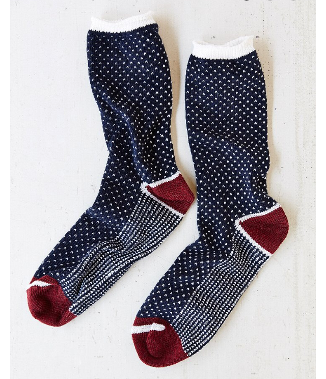 Urban Outfitter Birdseye Pattern Camp Sock.png