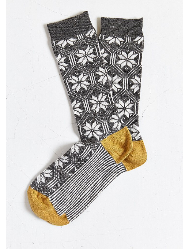 Urban Outfitter OCTAVE Snow Jacquard Crew Sock.png