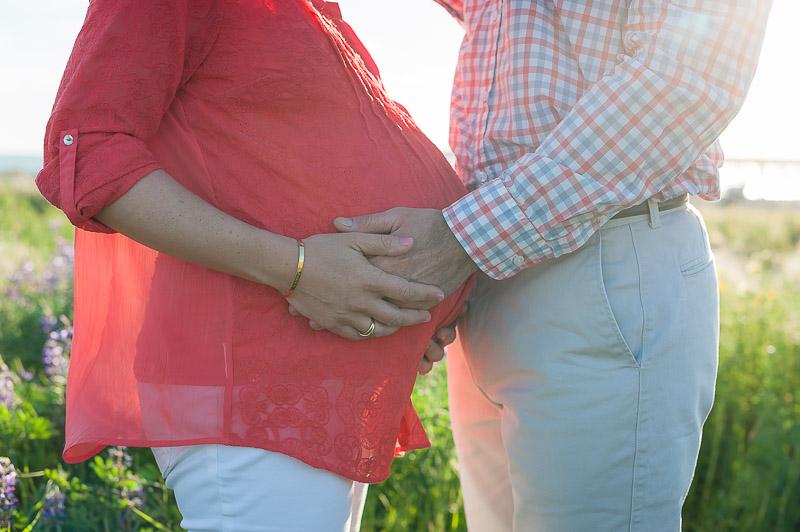 Belly hug, maternity photography Ventura