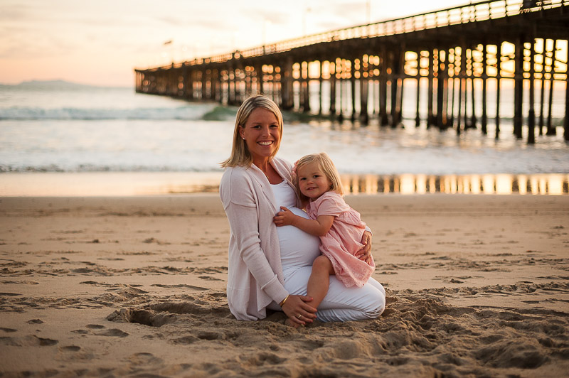 Mother and daughter, Ventura maternity session