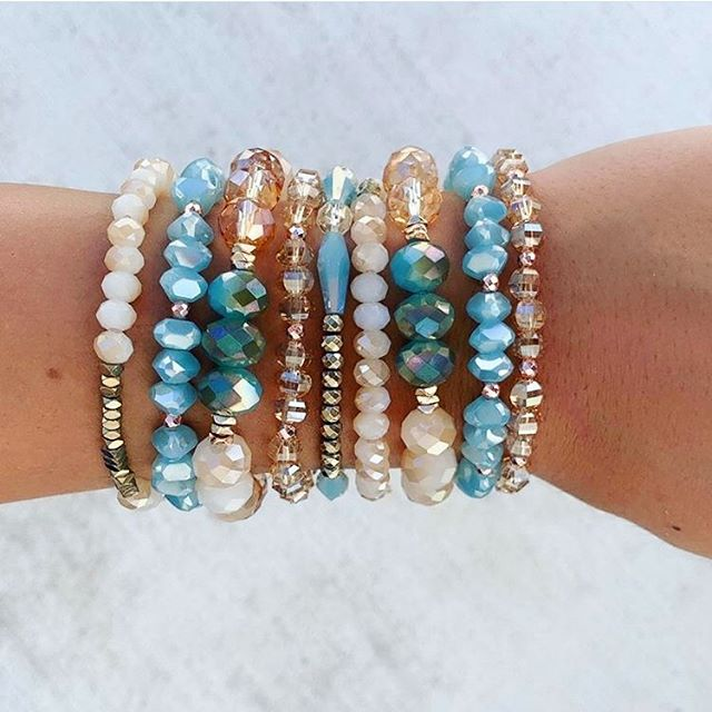 Summertime Sparkles!  These stretch bracelets are fun, easy, & just $8 each!💖