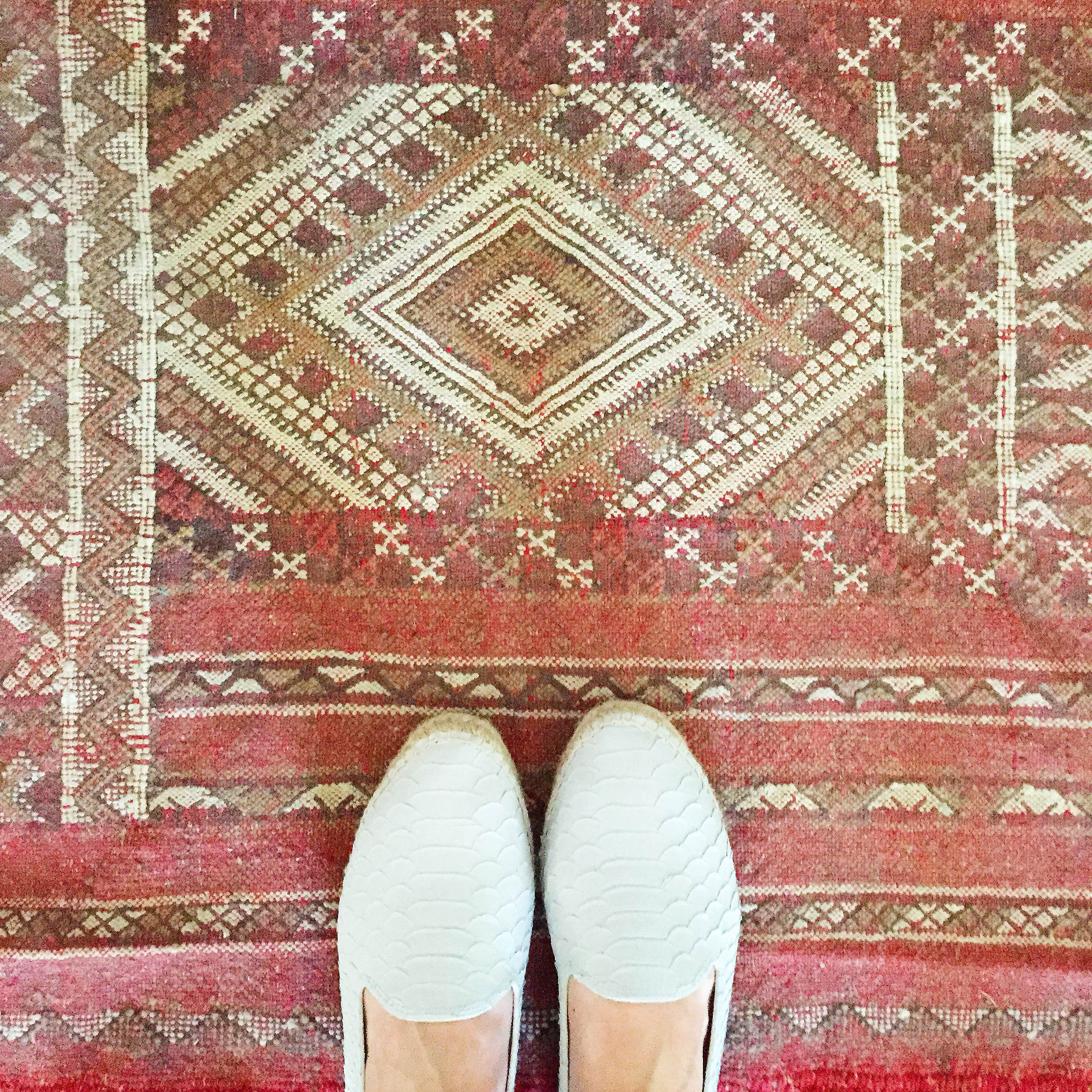 According to Hungarian tradition (my husband's roots), a bride and groom are to say their vows on a red cloth ( rushnyk ), which they then display in their home.We changed tradition slightly with this Moroccan rug from  Badia Design --it's a constant reminder of that most amazing day.