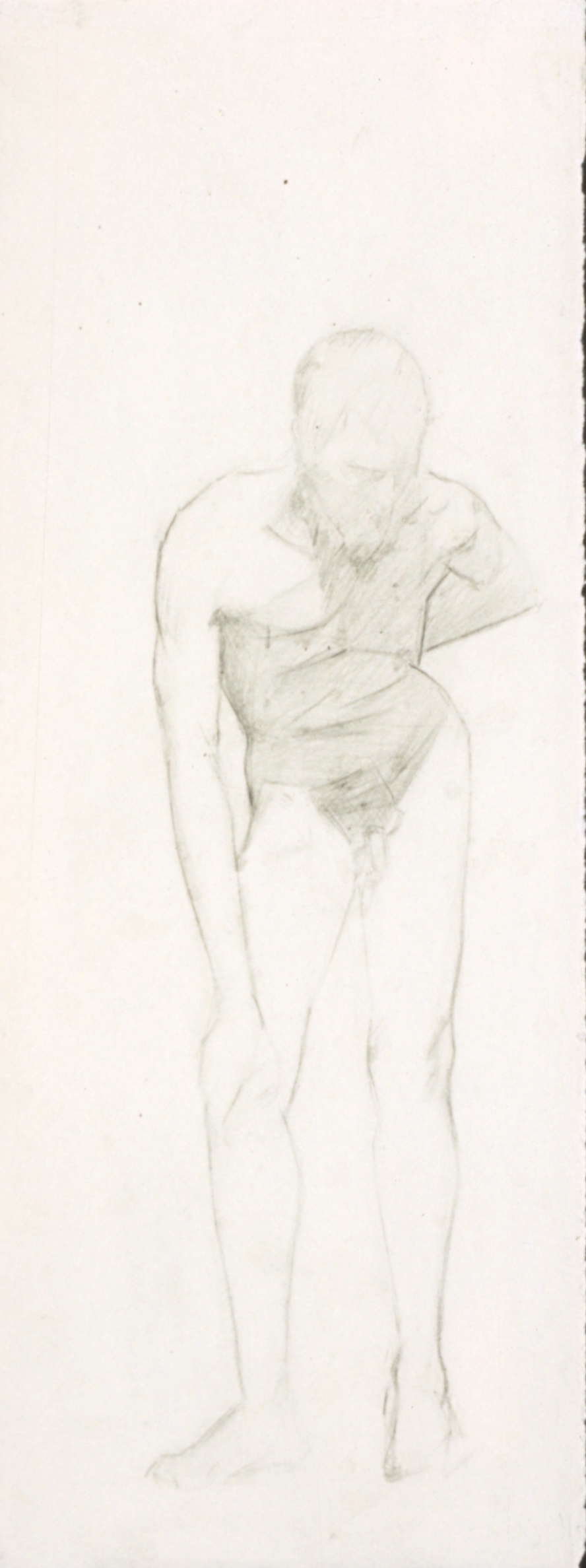 Male Nude, hunched