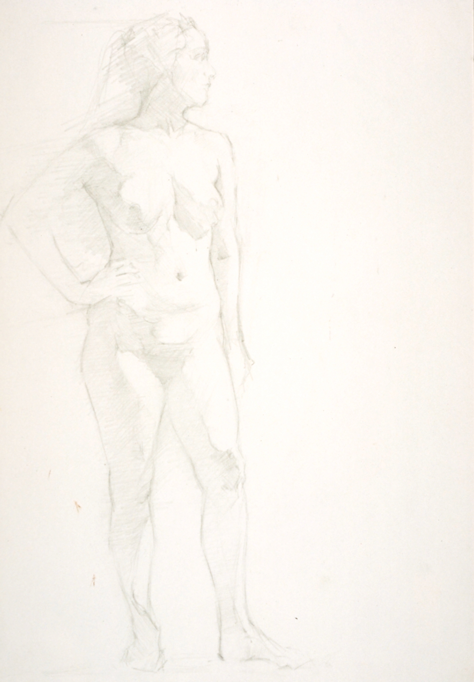Female Nude, hand on waist