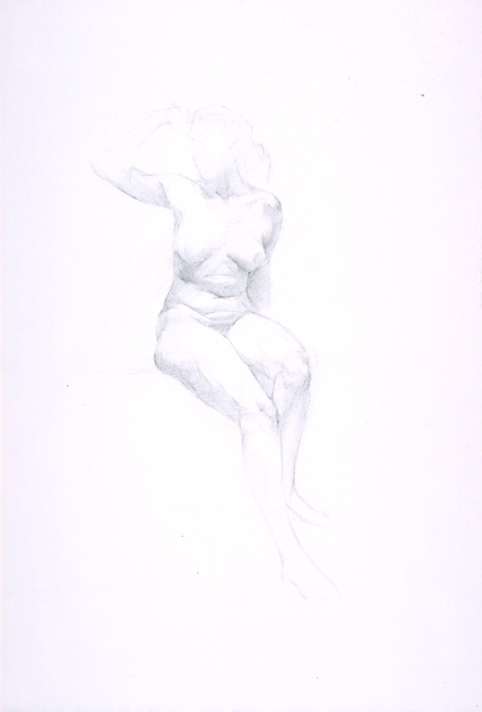 Female Nude, frontal sitting
