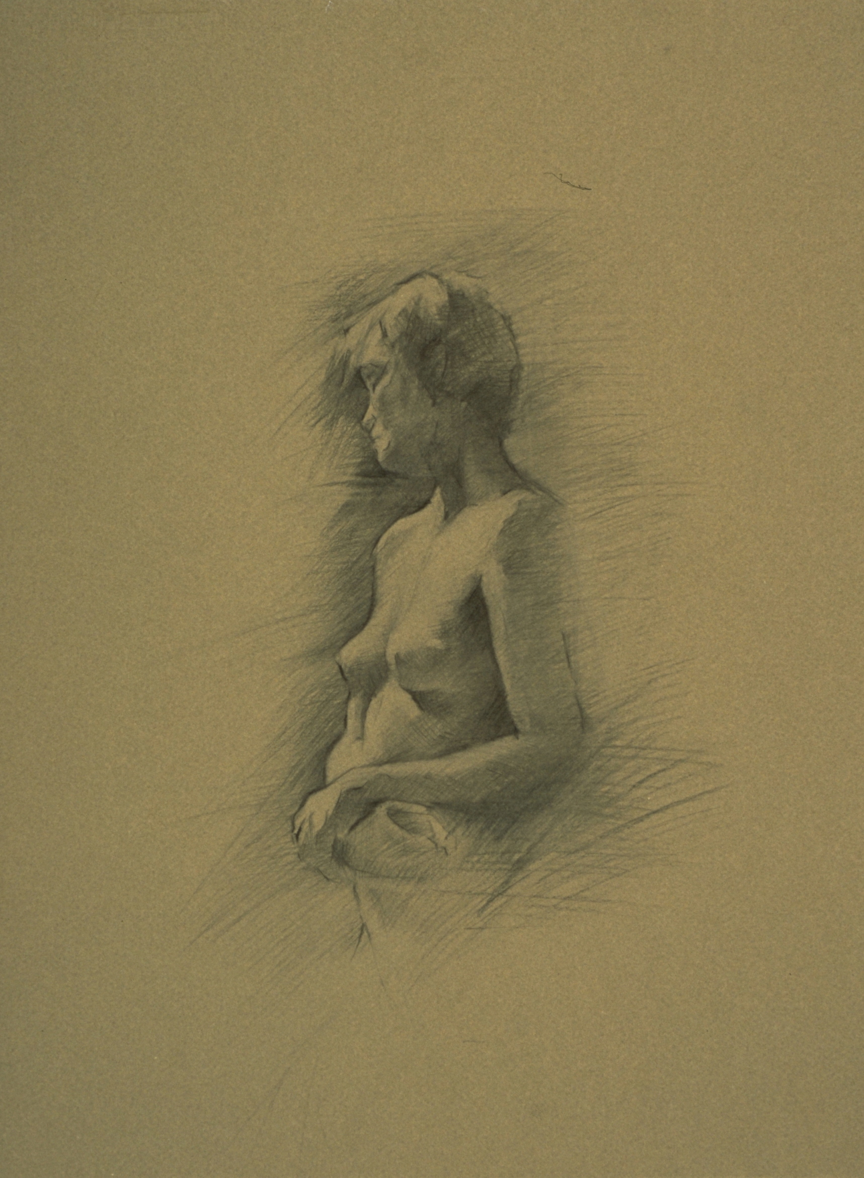 Female Nude, hands crossed