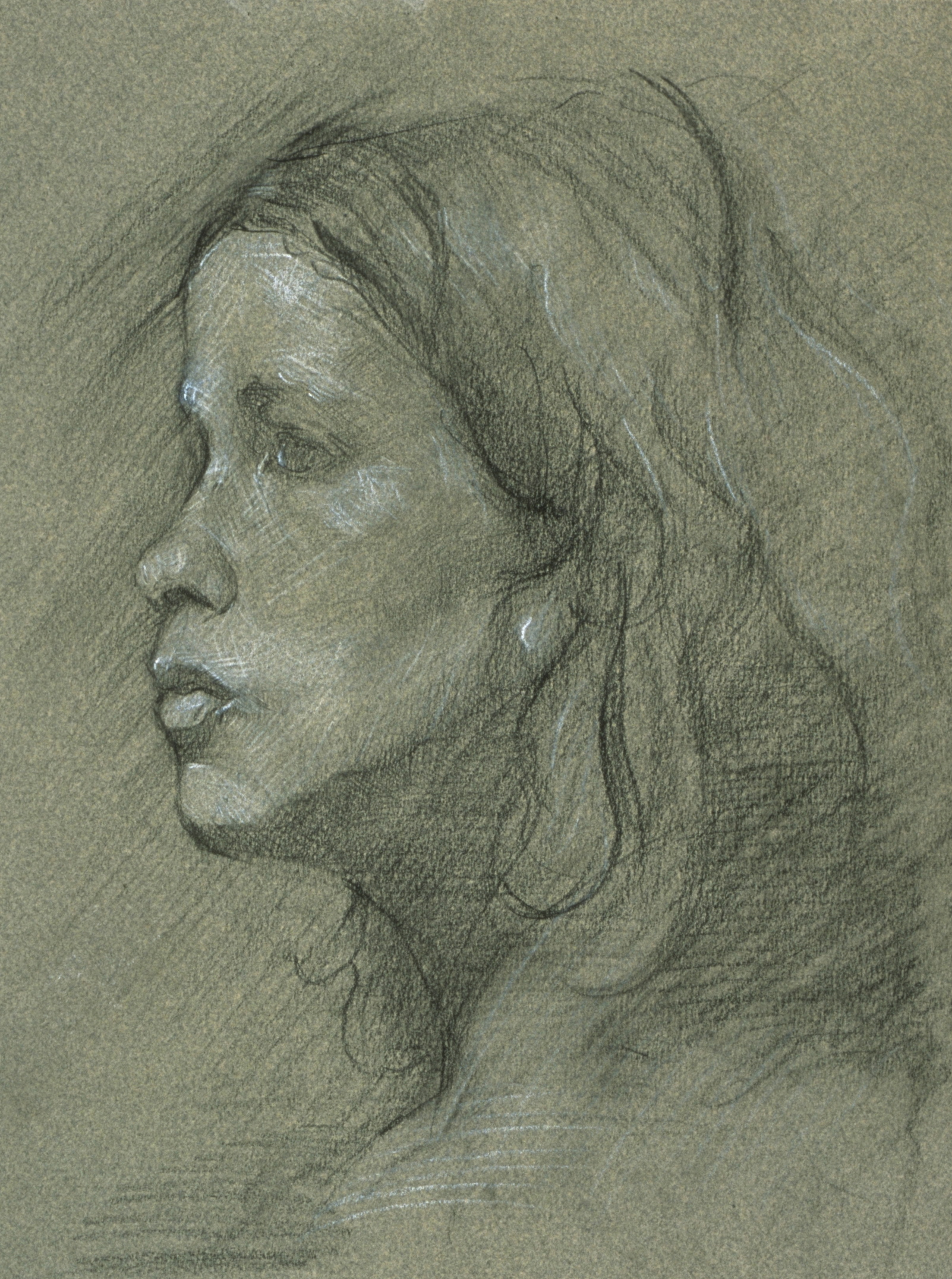 Portrait of Girl, profile