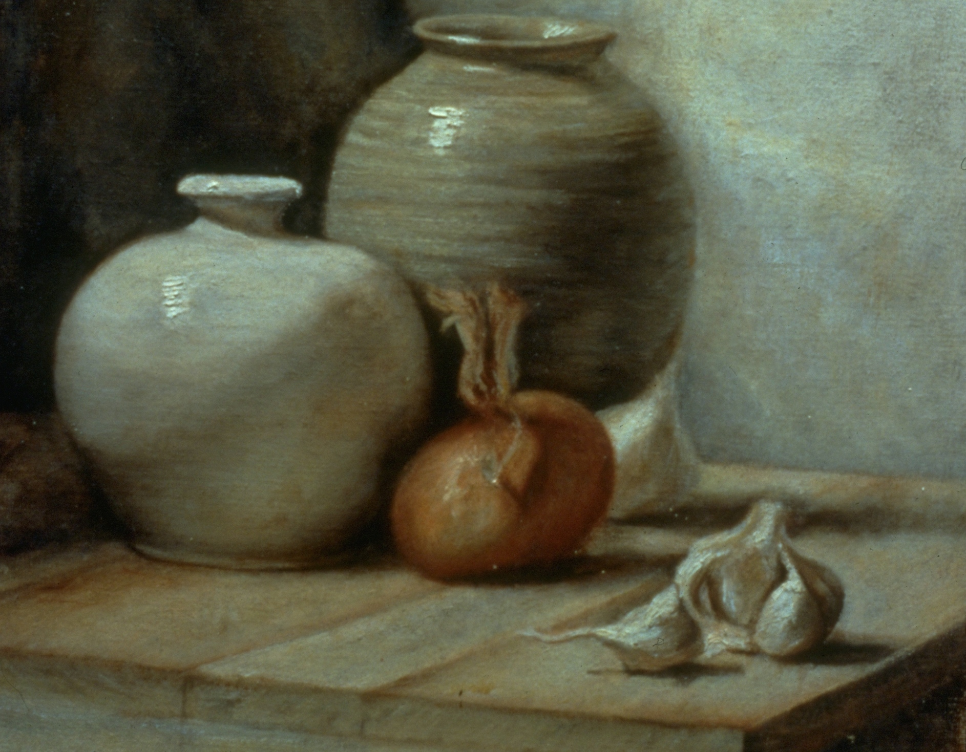 Two Vases, An Onion and A Garlic