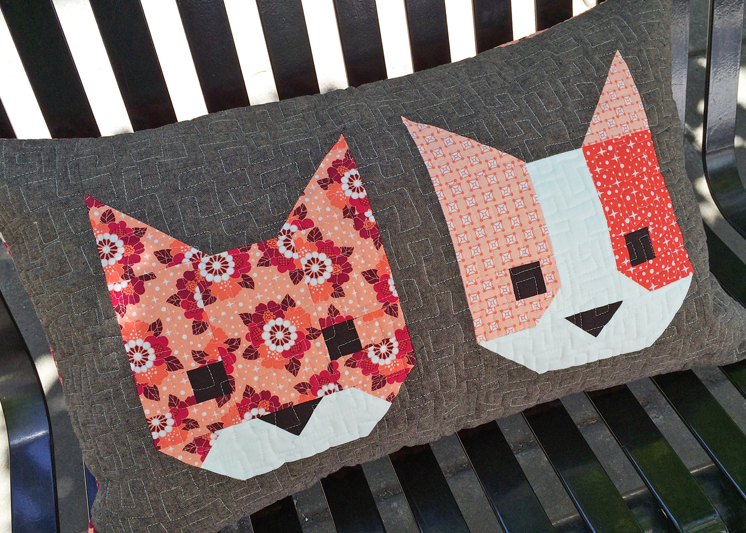 Cat Friends pillow by Elizabeth Hartman. ohfransson.com