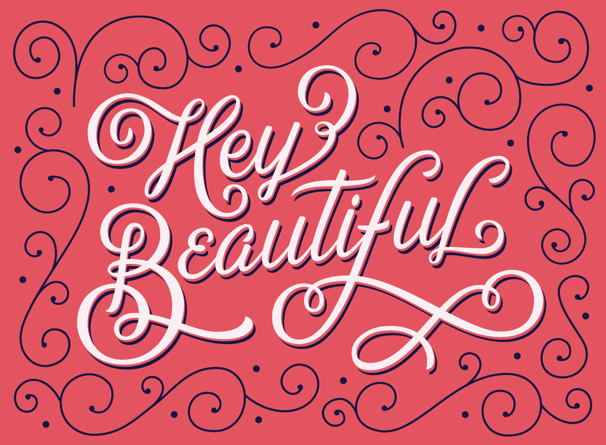 hey-beautiful-hand-lettering-leo-gomez