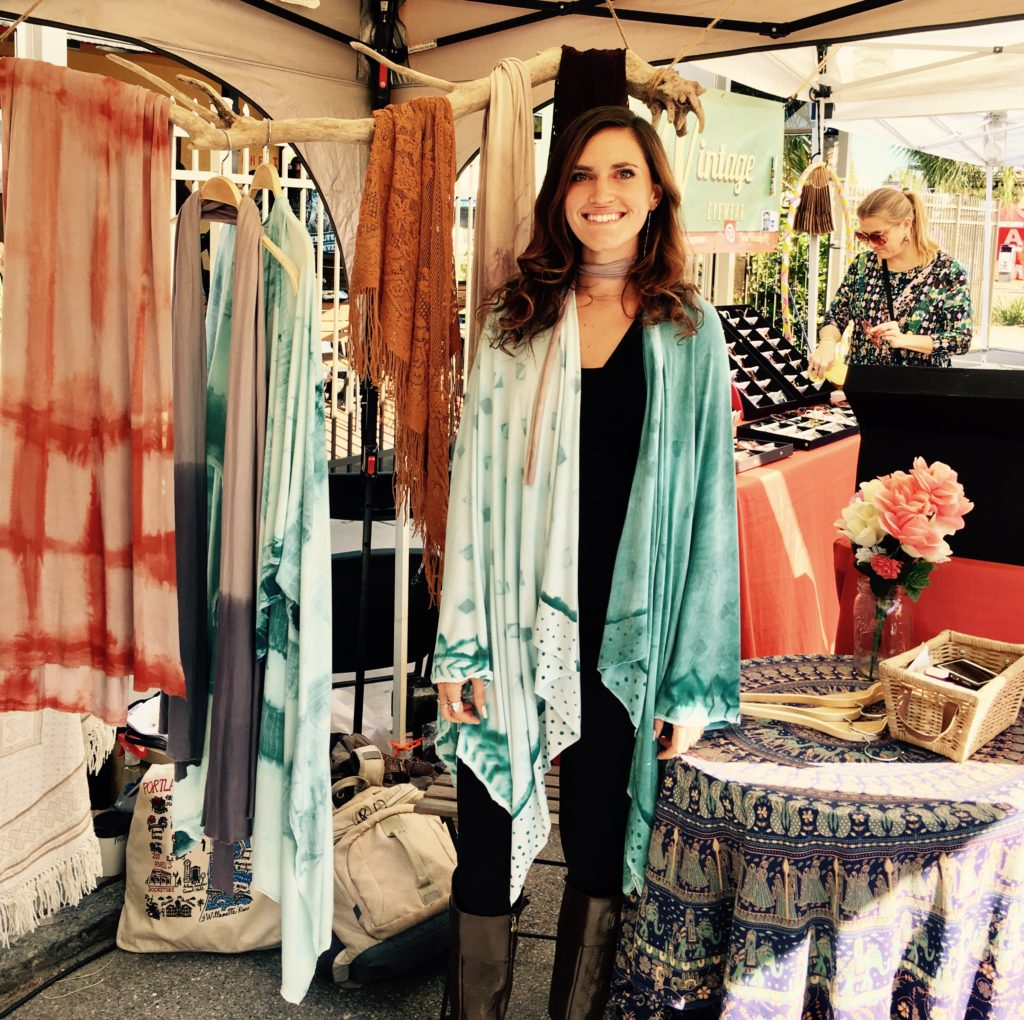 Alicia Geigel, owner of The Kimono Cart during EtCultura in St. Petersburg, Fl. Photo by: Amelia Barlett.