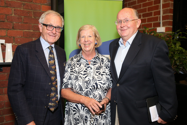 LIFE MEMBERS  Tony Cavanagh (left) and Tim Stewart with fellow TBV Life Member Rosemary Inglis