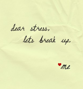 Break Up Letter to Financial Stress