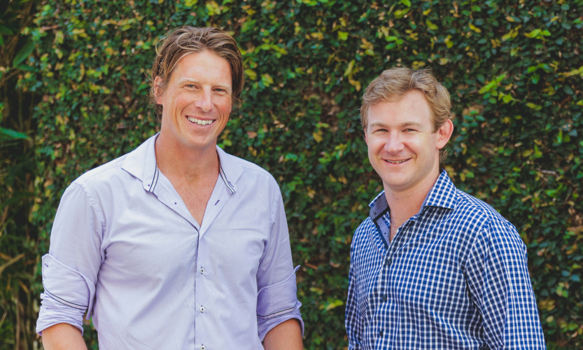 Co-founders of ClassCover, Ben Grozier and Peter Carpenter
