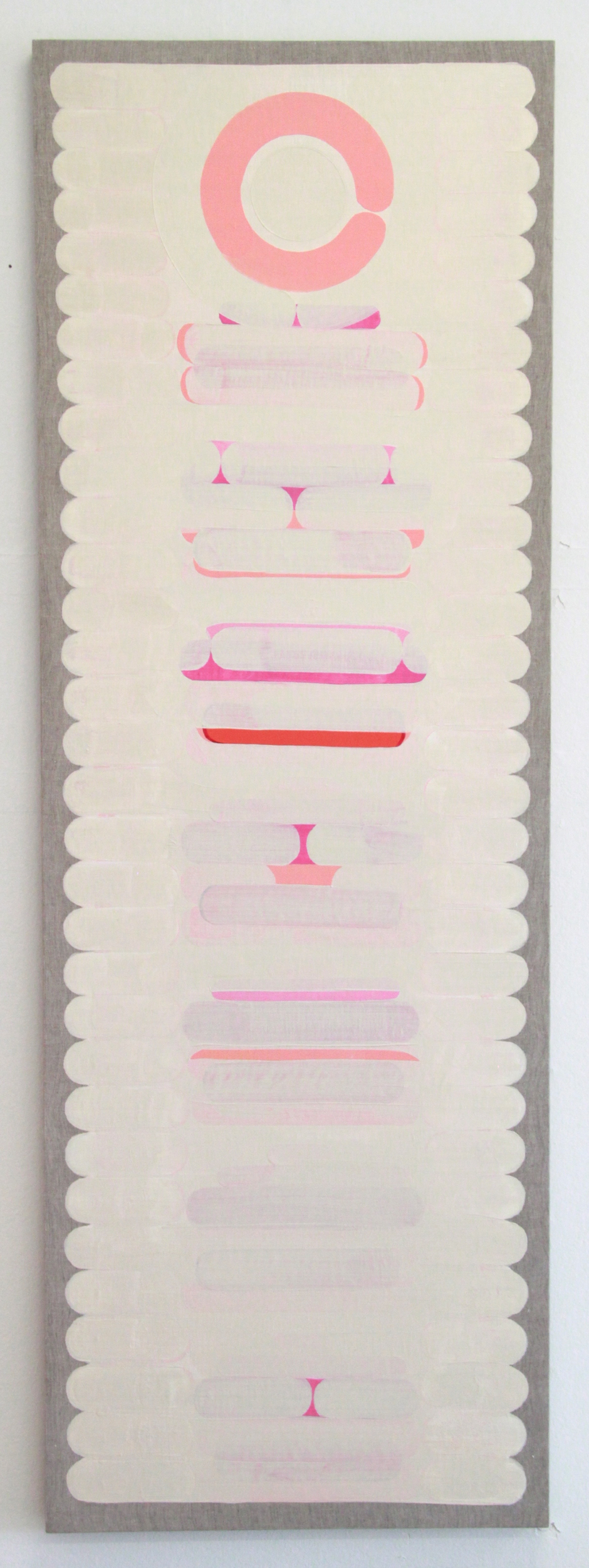 Totem , 2015 oil on handwoven khadi 86 x 32 inches