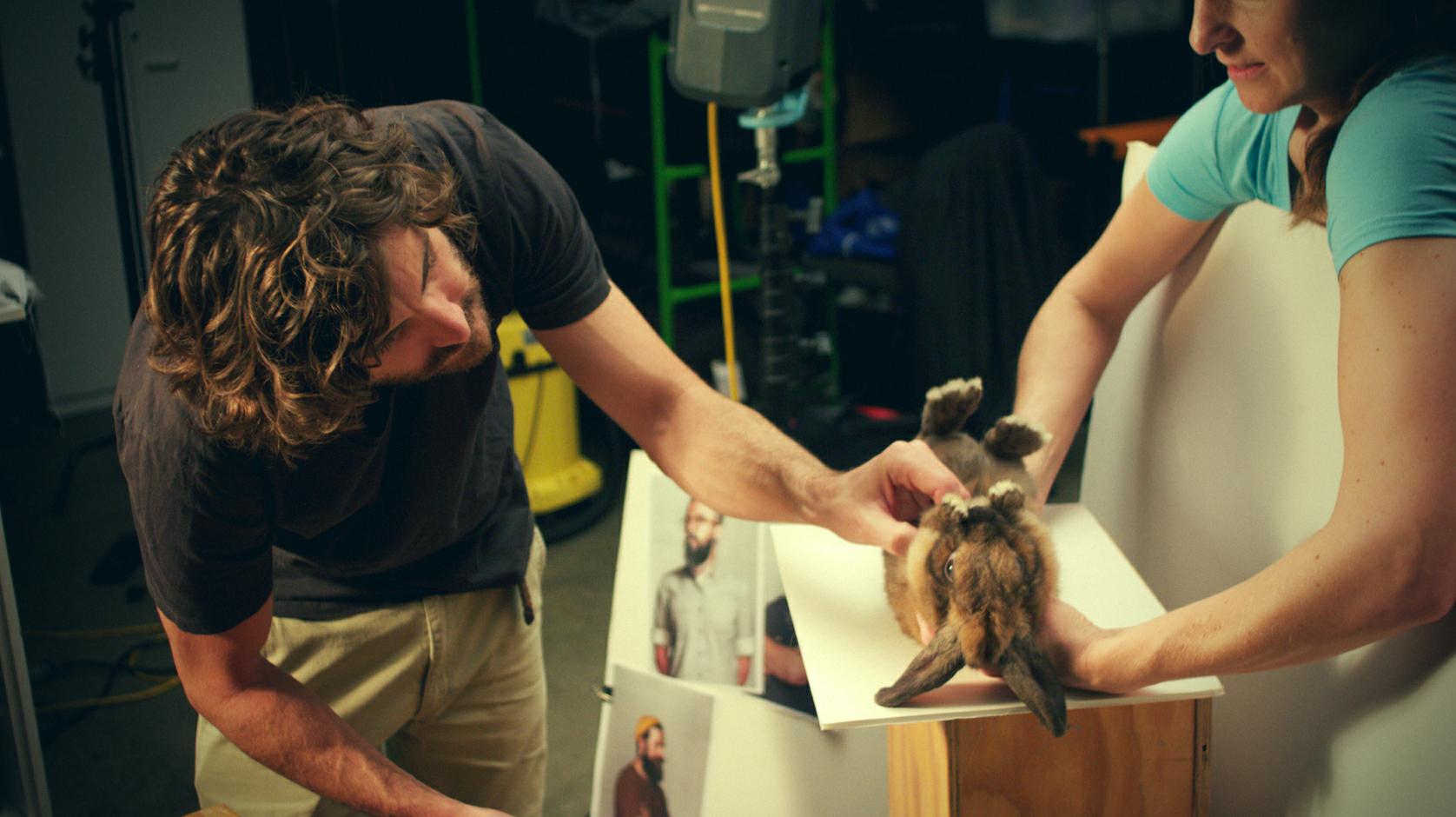 Senior Retoucher Inness Robins directing our model 'Bunny'