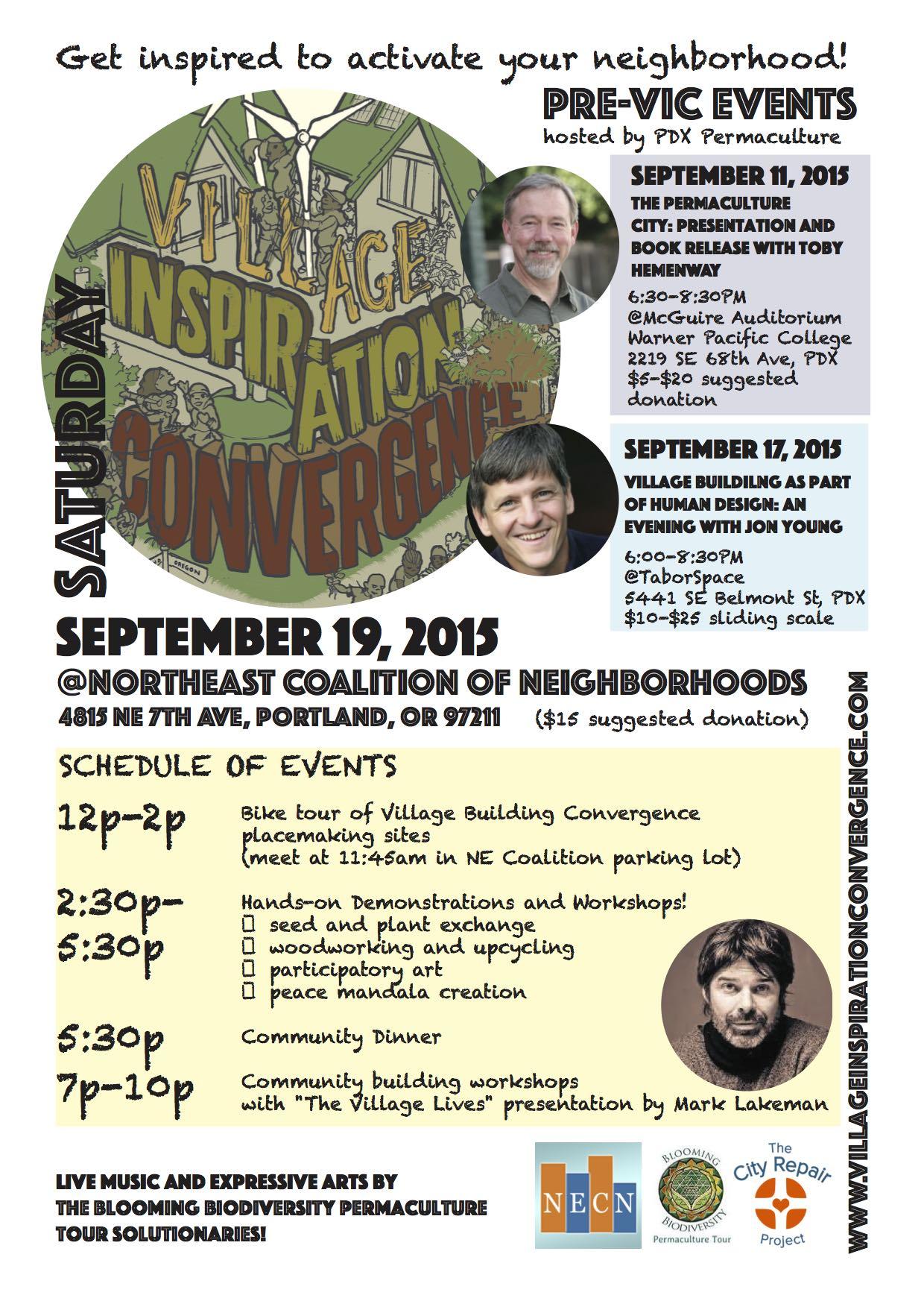 Village Inspiration Convergence (VIC) :September 19, 2015