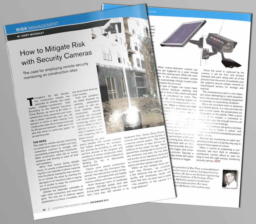 EyE Trax article —  Construction Business Owner,  December 2014