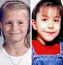 Laura Hobbs, 8 and  Krystal Tobias, 9