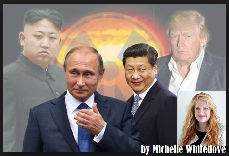 North Korea   Kim Jong-un  , Russia   Vladimir Putin ,  China   Xi Jinping ., USA       Donald Trump