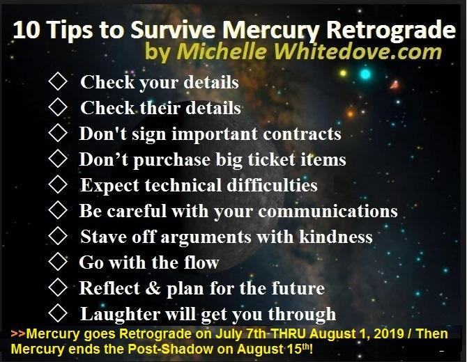 mercury Retrograde July 2019 Michelle Whitedove