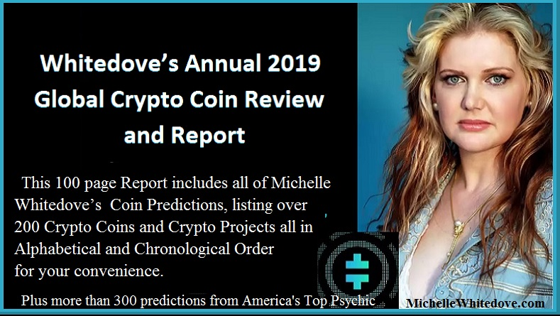 Michelle Whitedove Annual Crypto Coin Predictions