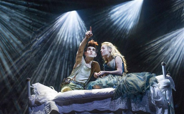 """Sam Swann and Fiona Button inthe RSC's """"Wendy and Peter"""". Why is this a twist?"""